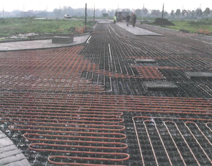 De buitenconstructie klaar om te worden geasfaleerd (Foto: Ooms Road Energy Systems)