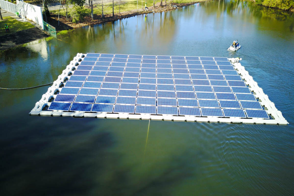 Drijvende zonnepanelen in Orlando. Foto: Orlando Utilities Commission