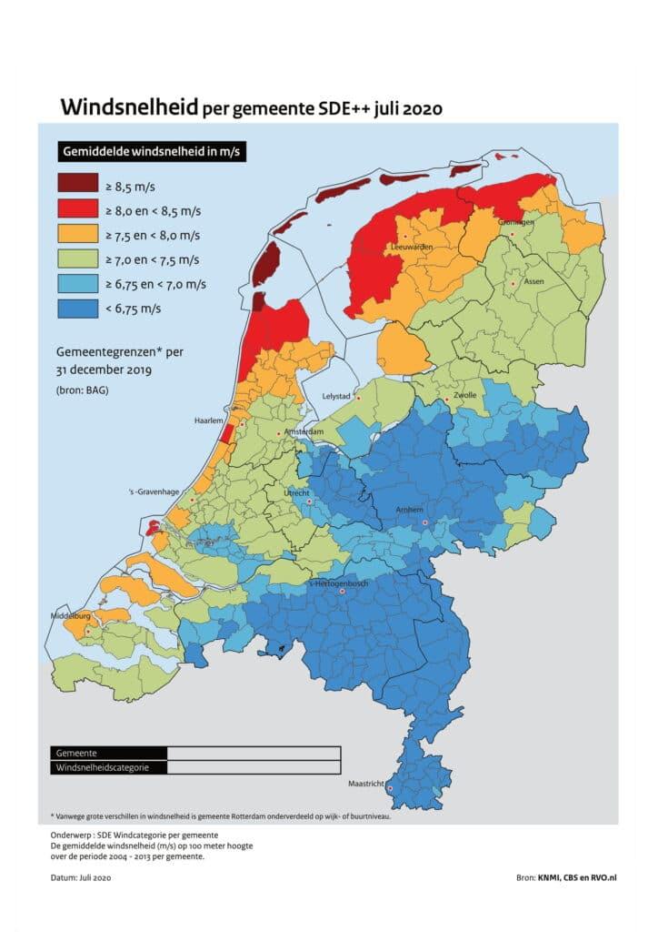 Windsnelheid per gemeente SDE december 2018-1